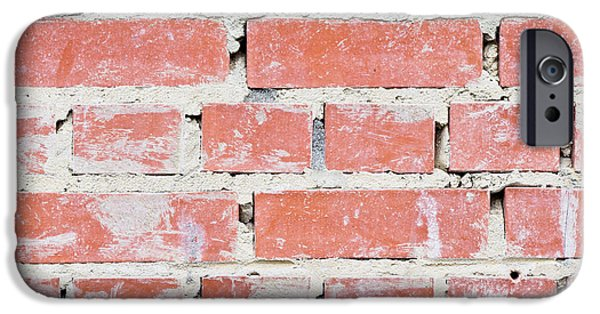 Interlocked iPhone Cases - Brick wall iPhone Case by Tom Gowanlock