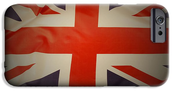 Patriots iPhone Cases - British flag iPhone Case by Les Cunliffe