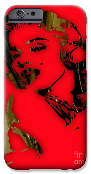 Marilyn Monroe iPhone Cases - Marilyn Monroe Collection iPhone Case by Marvin Blaine
