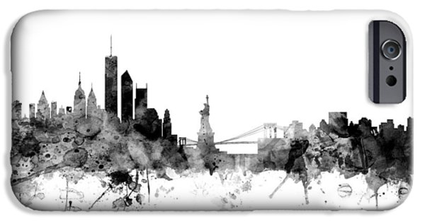 Recently Sold -  - United iPhone Cases - New York Skyline iPhone Case by Michael Tompsett