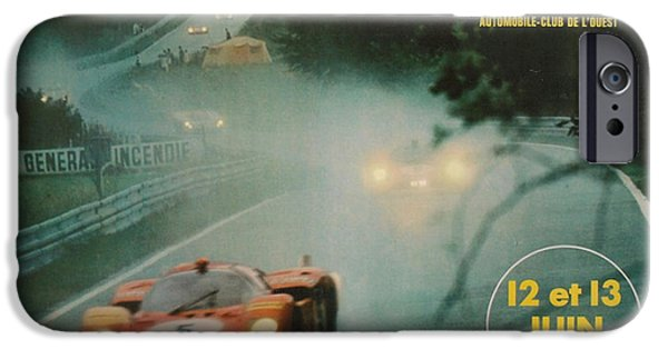 Le Mans 24 iPhone Cases - 24 Hours of Le Mans - 1971 iPhone Case by Nomad Art And  Design