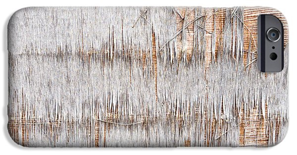 Stripes iPhone Cases - Weathered wood iPhone Case by Tom Gowanlock