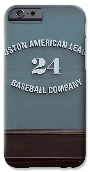 Red Sox iPhone Cases - 24 Yawkey Way iPhone Case by Ray Konopaske