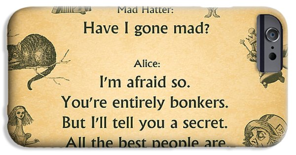 Alice In Wonderland iPhone Cases - 245- Alice In Wonderland iPhone Case by Joseph Keane