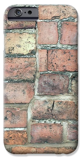 Basement iPhone Cases - Brick wall iPhone Case by Tom Gowanlock