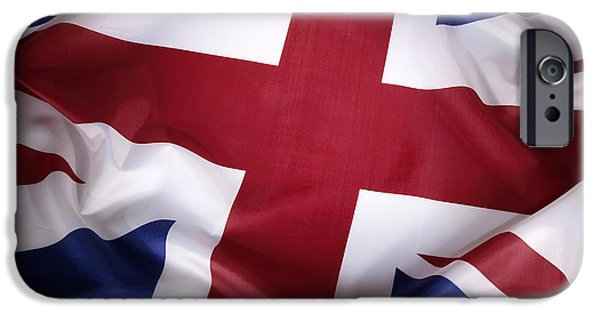 Nation iPhone Cases - British flag iPhone Case by Les Cunliffe