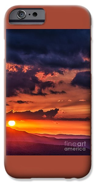 Buy iPhone Cases - Allegheny Mountain Sunrise iPhone Case by Thomas R Fletcher