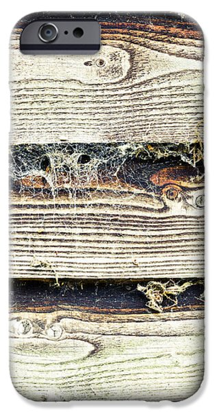 Chip iPhone Cases - Weathered wood iPhone Case by Tom Gowanlock