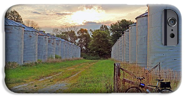Crops iPhone Cases - 28 Silos iPhone Case by Steve  Gass