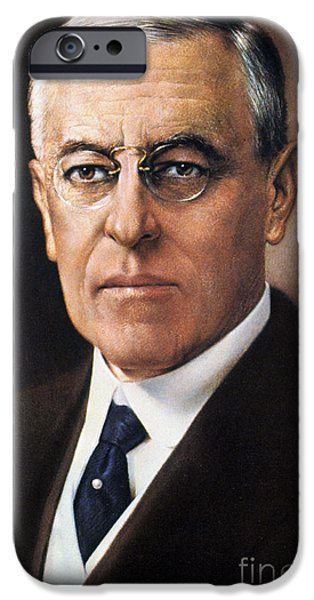1910s iPhone Cases - Woodrow Wilson (1856-1924) iPhone Case by Granger