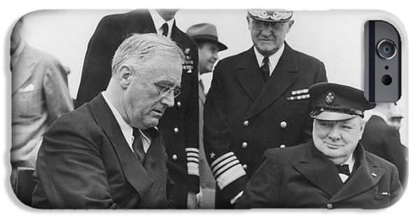 Charters iPhone Cases - Franklin Delano Roosevelt iPhone Case by Granger