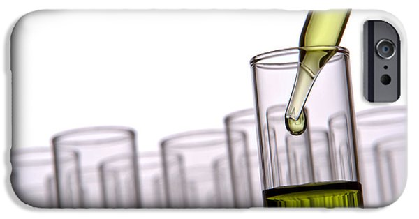 Laboratory Equipment iPhone Cases - Scientific Experiment in Science Research Lab iPhone Case by Olivier Le Queinec