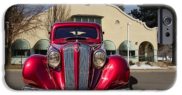 Old Cars iPhone Cases - 1936 Hupmobile Sedan iPhone Case by Nick Gray
