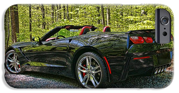 Industry iPhone Cases - 2015 Chevy Corvette Stingray iPhone Case by Allen Beatty