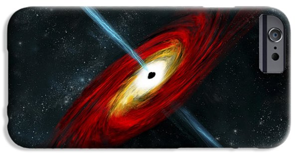 Jet Star iPhone Cases - Artists Depiction Of A Black Hole iPhone Case by Marc Ward