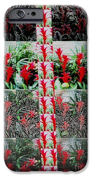 Abstract Digital Mixed Media iPhone Cases - Be Different BUY DIFFERENT Flower based Graphic Digital Paintings Home Decor Abstract FineArt   iPhone Case by Navin Joshi