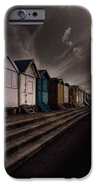 Pathway iPhone Cases - Beach Huts iPhone Case by Martin Newman