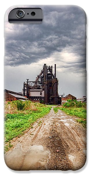 Bethlehem iPhone Cases - Bethlehem Steel iPhone Case by Michael Dorn