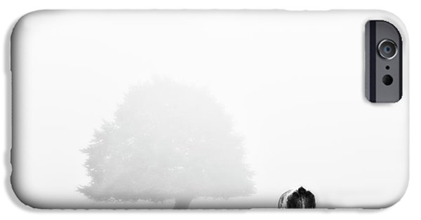 Monochromatic Digital Art iPhone Cases - Black And White Nature Landscape Photography Art Work iPhone Case by Marco Hietberg