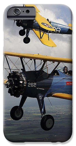 Boeing Stearman Model 75 Kaydet In U.s iPhone Case by Daniel Karlsson