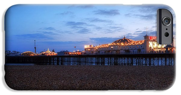 Pleasure iPhone Cases - Brighton at night iPhone Case by Joana Kruse