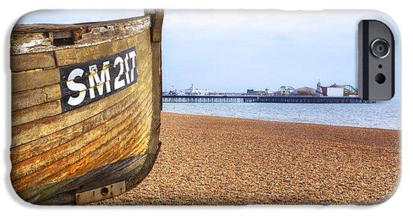 Pleasure iPhone Cases - Brighton Pier iPhone Case by Joana Kruse