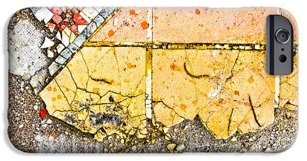 Vandalism iPhone Cases - Broken tiles iPhone Case by Tom Gowanlock