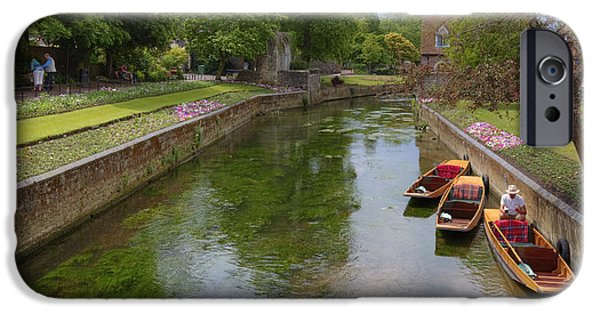 Punting iPhone Cases - Canterbury - England iPhone Case by Joana Kruse