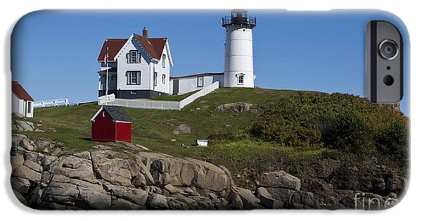 Cape Neddick Lighthouse iPhone Cases - Cape Neddick Lighthouse Nubble Light York Beach Maine iPhone Case by Jason O Watson