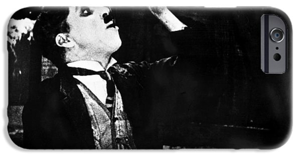 Chaplin iPhone Cases - Chaplin: Gold Rush. 1925 iPhone Case by Granger