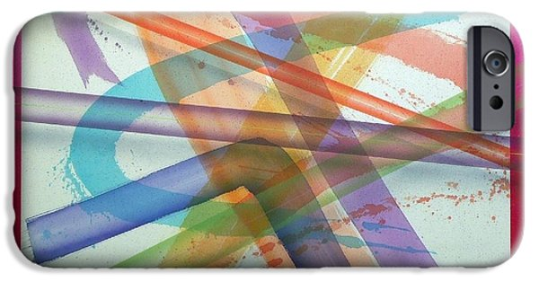 Painter Photo Paintings iPhone Cases - Color Fields one o one iPhone Case by Thomas Kawall