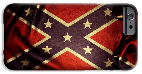 Confederate Flag iPhone Cases - Confederate flag iPhone Case by Les Cunliffe