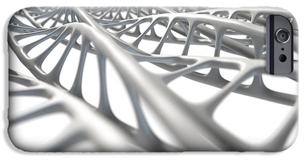 Evolution iPhone Cases - DNA Strand Micro iPhone Case by Allan Swart