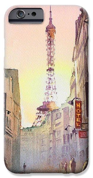 Chick iPhone Cases - Eiffel Tower Paris France iPhone Case by Irina Sztukowski
