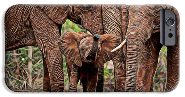 Wild iPhone Cases - Elephants iPhone Case by Marvin Blaine