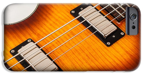Epiphone Guitar iPhone Cases - Epiphone Viola Bass Guitar iPhone Case by Classic Visions