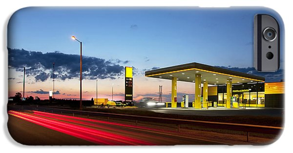 Business Photographs iPhone Cases - Estonian Gas Station iPhone Case by Jaak Nilson