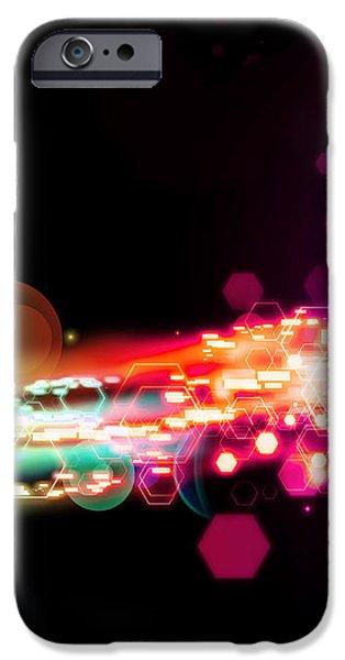 explosion of lights iPhone Case by Setsiri Silapasuwanchai