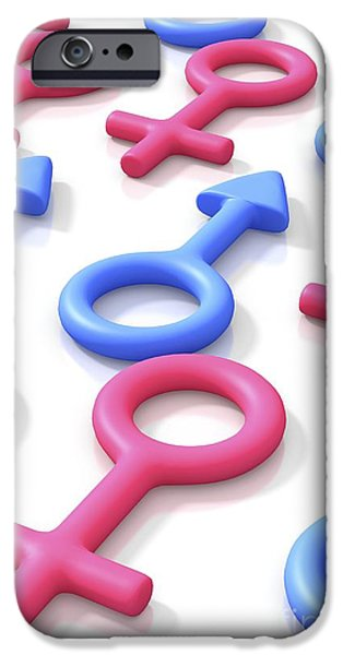 Cut-outs iPhone Cases - Gender, Conceptual Artwork iPhone Case by David Mack