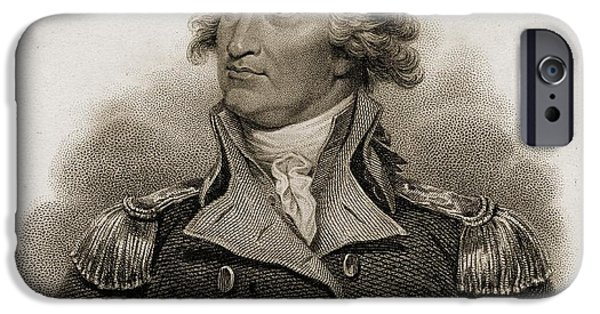 First Black President Drawings iPhone Cases - George Washington, 1732-1799. First iPhone Case by Ken Welsh