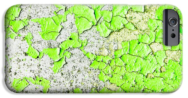 Design iPhone Cases - Green paint iPhone Case by Tom Gowanlock