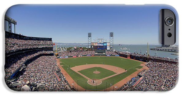Park Scene iPhone Cases - Home Of The San Francisco Giants iPhone Case by Mountain Dreams
