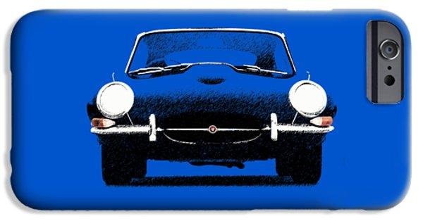 Jaguars iPhone Cases - Jaguar E Type iPhone Case by Mark Rogan