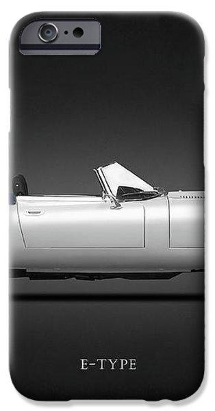 Jaguar E-Type iPhone Case by Mark Rogan
