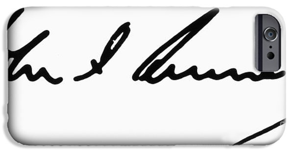 Autographed iPhone Cases - John F. Kennedy iPhone Case by Granger