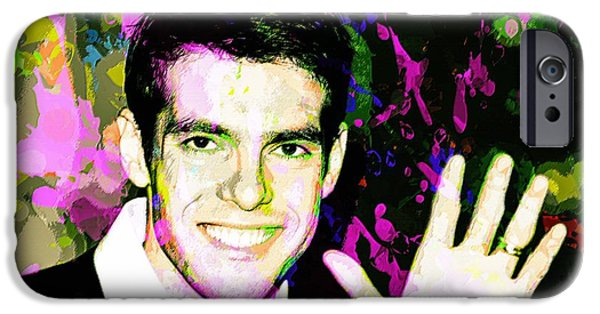 Celebrities Art iPhone Cases - Kaka iPhone Case by Shelby Claire
