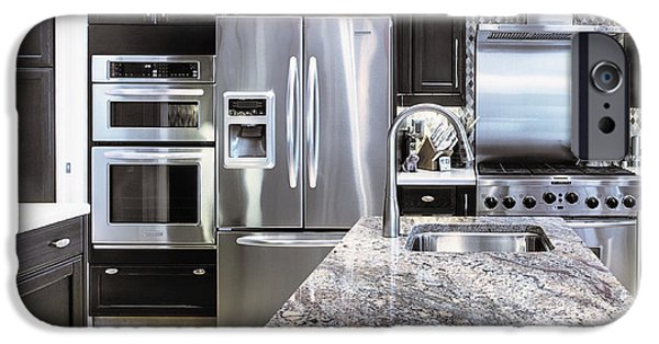 Appliance iPhone Cases - Modern Kitchen Interior iPhone Case by Skip Nall