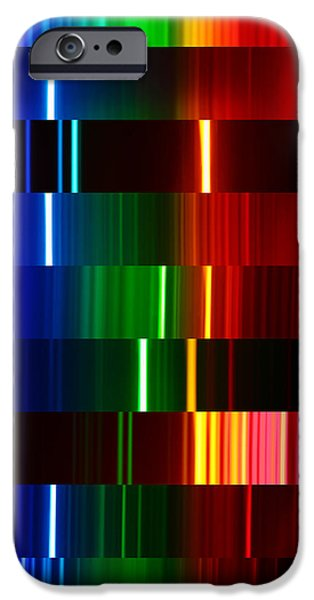 Orbital iPhone Cases - Montage Of Various Spectra iPhone Case by Ted Kinsman
