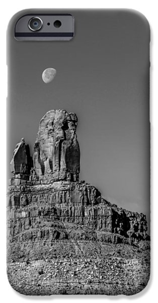 Red Rock iPhone Cases - Monument Valley Setting Hen Monument iPhone Case by Alexandr Grichenko