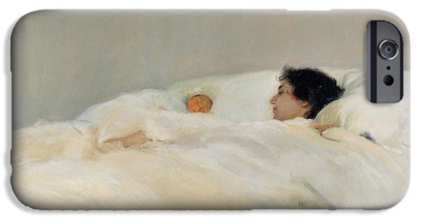 Sheets iPhone Cases - Mother iPhone Case by Joaquin Sorolla y Bastida